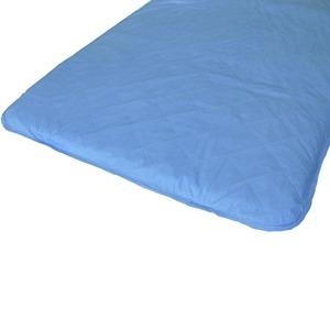 快適な温度帯に働きかける温度調整素材アウトラスト使用 涼感敷パッドシーツ クイーン ブルー