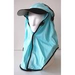 日焼け防止・UVカットする帽子、紫外線保護指数UPF50+【フリルネックU.T.E. ポリエステルマイクロメッシュ】(ミント)