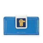 JUICY COUTURE(ジューシークチュール) Continental Wallet ウォレット Blue Vista Multi