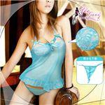 コスプレ 胸元刺繍ブルーレース ベビードール&Tバックセット ild335の詳細ページへ