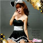 マサキ コスプレ キュートなウサギさん♪黒×白サンタバニーガール z669