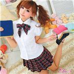 コスプレ 2012年新作 赤チェックのキュート女子高生制服 コスチューム/z903/衣装