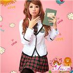コスプレ 2012年新作 白ブレザーのキュート女子高生制服 コスチューム/z908/衣装