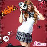 コスプレ 2012年新作 ベスト付ネイビーチェック女子高生制服 コスチューム/z912/衣装