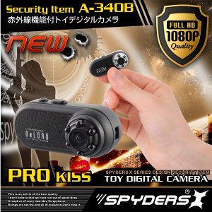 トイデジタル ムービーカメラ スパイダーズX (A-340B)ブラック