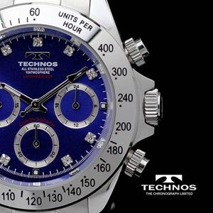 【送料無料】 TECHNOS(テクノス) メンズ腕時計 クロノグラフ T4102SN 限定モデル