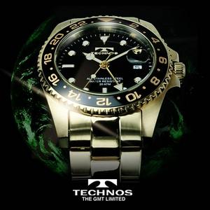 TECHNOS(テクノス) GMT 限定モデル メンズ 腕時計 T2134GB