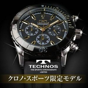TECHNOS(テクノス) メンズ腕時計 クロノ・スポーツ T2163SH 限定モデル ブラック/ゴールド