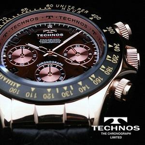 TECHNOS(テクノス) メンズ腕時計 本革 クロノグラフ T4161PA 限定モデル
