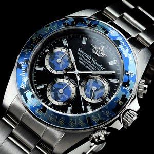Seventh Wonder(セブンス・ワンダー) クロノグラフ メンズ 腕時計 THE THIRD EYE CAMO NAVY SW0403
