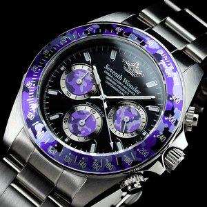 Seventh Wonder(セブンス・ワンダー) クロノグラフ メンズ 腕時計 THE THIRD EYE CAMO PURPLE SW0404