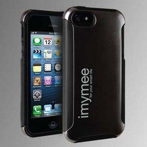 imymee LANCER iPhone5専用 耐衝撃構造 カード収納付き ケース メタルグレー