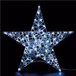 LEDモチーフライト スタンディングスター 90cm ホワイト(常点/防滴型)の詳細ページへ