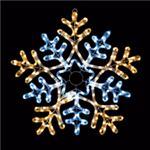 LEDモチーフライト フラッシュスノーフレーク 60cm ホワイト/電球色(2色点滅/コントローラー付き/防滴型)の詳細ページへ