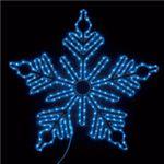 LEDモチーフライト ビッグスノーフレーク 90cm ブルー(常点/防滴型)の詳細ページへ