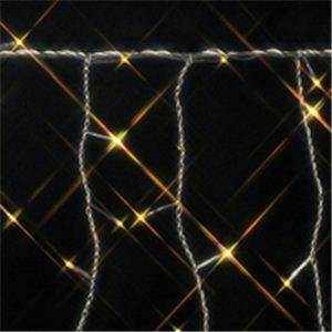 120球LEDアイスクルライト 270cm レモンゴールド(透明コード/コントローラー付き/防滴型)