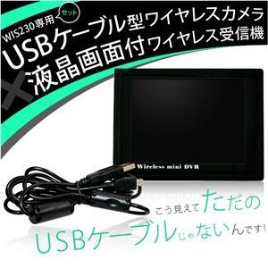 WIS230専用セット USBケーブル型ワイヤレスカメラ&液晶画面付ワイヤレル受信機