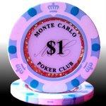 MONTECARLO モンテカルロ・ポーカーチップ<1>白 25枚セットの詳細ページへ