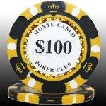 MONTECARLO モンテカルロ・ポーカーチップ<100>黒 25枚セットの詳細ページへ