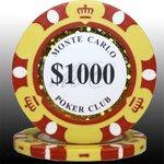 MONTECARLO モンテカルロ・ポーカーチップ<1000>黄 25枚セットの詳細ページへ
