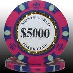 MONTECARLO モンテカルロ・ポーカーチップ<5000>桃 25枚セットの詳細ページへ