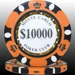 MONTECARLO モンテカルロ・ポーカーチップ<10,000>橙 25枚セットの詳細ページへ