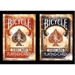 BICYCLE VINTAGE 1800 バイスクル ビンテージ1800 レッド・ブルー【2個セット】