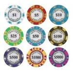 モンテカルロ・ポーカーチップサンプル10枚セットの詳細ページへ
