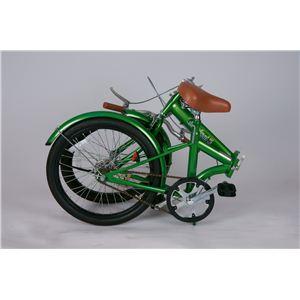 トロピカル5 20インチ折り畳み自転車 グリーン MG-OEM20