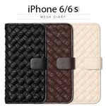Zenus iPhone6/6S Mesh Diary ホワイトの詳細ページへ