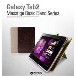 Z371GT2★GALAXY TAB10.1★ MASSTIGE BASIC BAND SERIES ●2段スタンド&バックバンド付き-Light Beige