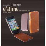 Z282i4★iPhone4S / iPhone4 対応ケース  E`stime Folder 本革 Caramel