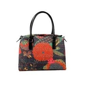 B7303P★Abbi Newyork(アビィ・ニューヨーク) 手織物風プリントのおしゃれバッグ オットマン プーシキン