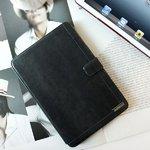 【iPad Mini ケース】★iPad Mini ケース★ダークグレー【バックバンド&スタンド付き】 Masstige Neo Classic Diary 自動on/off