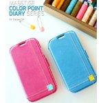 docomo【GALAXY S4 SC-04E】Zenus Masstige Color Point Diary(マステージ カラーポイントダイアリー) レザーケース☆ブラック