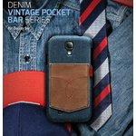 docomo【GALAXY S4 SC-04E】Masstige Denim Vintage Pocket Bar(マステージ デニムビンテージポケット) Z2049GS4