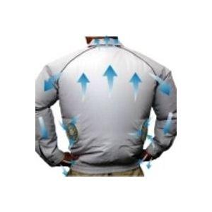 【2012年新モデル】空調服 長袖ブルゾンワイドファンタイプ シルバー M シルバー