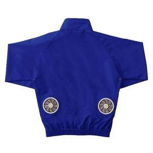 空調服 長袖ブルゾンワイドファンタイプ ブルー 2L ブルー