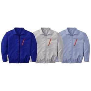 【2012年新モデル】空調服 長袖ブルゾンワイドファンタイプ ブルー Lサイズ ブルー