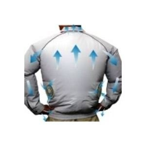 空調服 長袖ブルゾンワイドファンタイプ ブルー Lサイズ