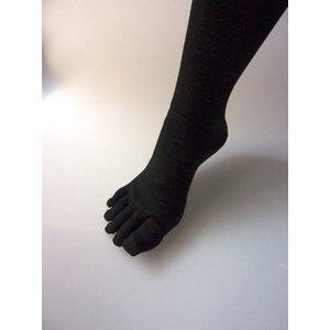【特許取得済】消臭靴下「宇宙のくつ下」 5本指タイプ ブラック F