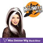 RUBIE'S (ルービーズ) 51462 Miss Sinister Wig - Black/Silver(ウィッグ)