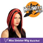 RUBIE'S (ルービーズ) 51463 Miss Sinister Wig - Black/Red(ウィッグ)