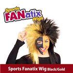 RUBIE'S (ルービーズ) 51387 Sports Fanatix Wig - Black/Gold(ウィッグ)