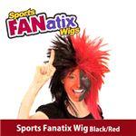 RUBIE'S (ルービーズ) 51388 Sports Fanatix Wig - Black/Red(ウィッグ)