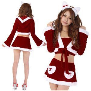 【クリスマスコスプレ】Short-p437A レディースサンタ・ショート437(赤)
