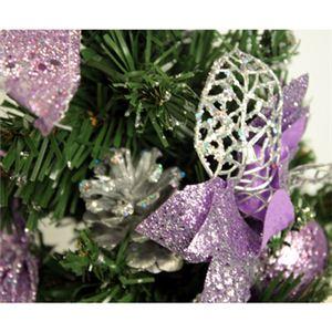 【クリスマス】30cm クリスマスツリー(パープル) C-12511