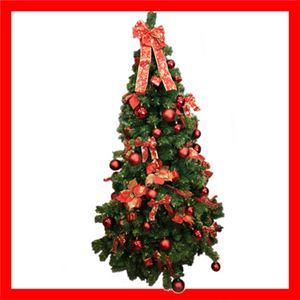 【クリスマス】180cm レッドオーナメントツリー SS701R-180