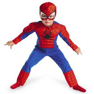 【コスプレ】 disguise Super Hero Squad / Spider Man Toddler Muscle 子供用 スパイダーマンコスチューム 2T
