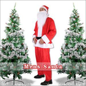 【クリスマスコスプレ】メンズサンタ Men's Santa costume RED PLUSH レッド